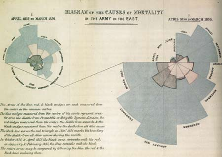Florence Nightingale's Diagram of the Causes of Mortality in the Army in the East