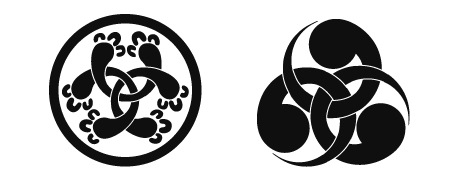 left japanese family crest right japanese family crest featuring the
