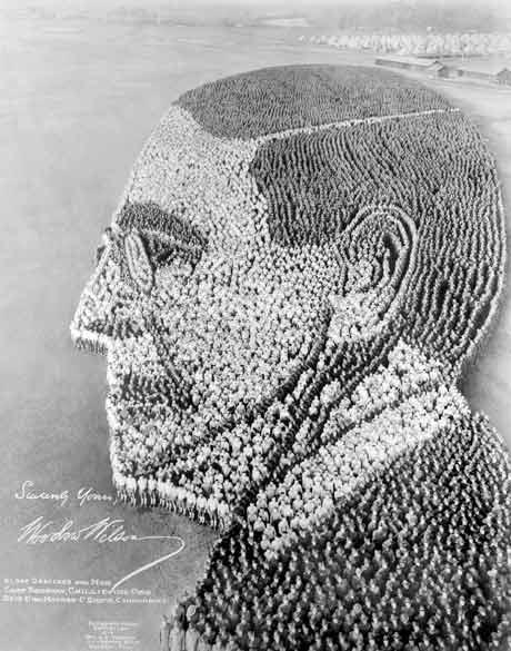 Living Portrait of President Woodrow Wilson